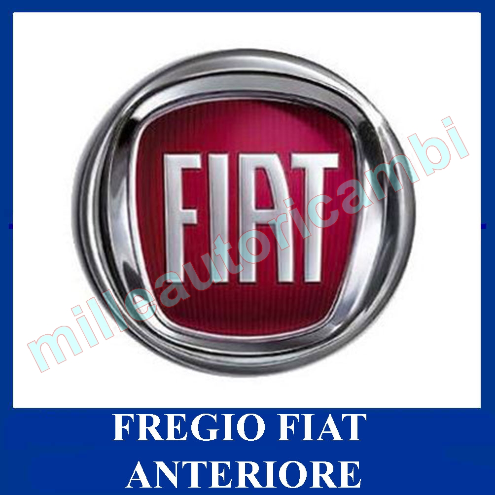fregio fiat grande punto dal 2007 anteriore logo stemma rosso. Black Bedroom Furniture Sets. Home Design Ideas