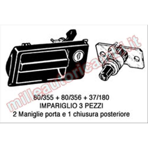 SCONTRO SERRATURA COFANO POSTERIORE FIAT 500 DAL 1992
